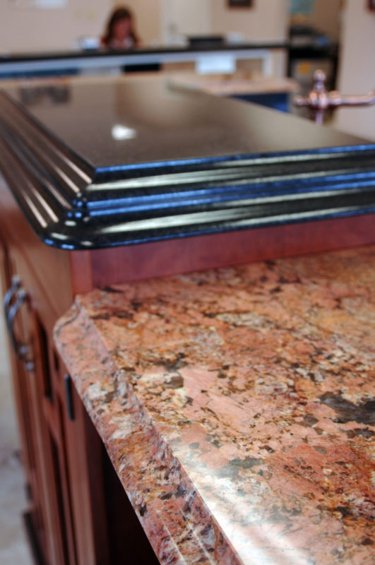 Red Granite Bordeaux with ogee edge