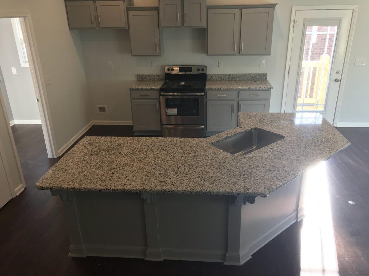 Bianco Sardo Granite Island Countertop